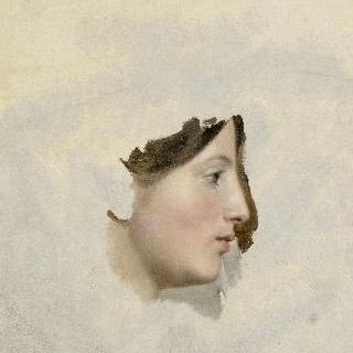 여인의 얼굴 :  오른쪽 옆모습