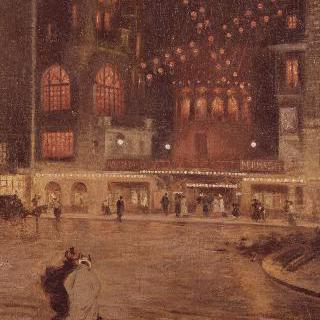 블랑슈 광장, 물랑-루즈 ; 밤의  풍경
