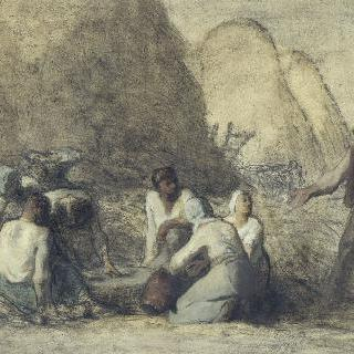 수확하는 사람들의 식사