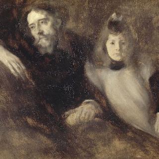 알퐁스 도데 (1840-1897)와 그의 딸 에드메 (훗날 앙드레 제르맹 부인)