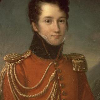 왕가의 근위병 옷을 입은 알프레드 드 비니