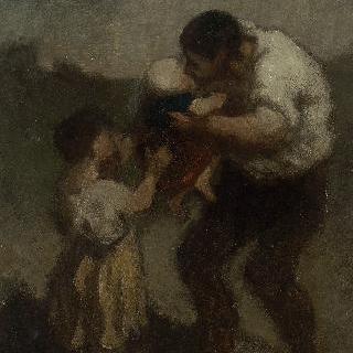 키스 (남자와 그의 아이)