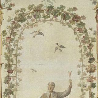 보레 성의 루이 파공을 위해 그린 장식 패널 : 협력 : 바쿠스 메달