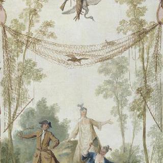 보레 성의 루이 파공을 위해 그린 장식 패널 : 사냥 : 다이아나 메달