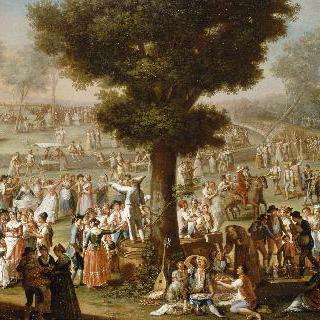 나폴리 지방 부근에서 벌어진 광대들이 있는 축제