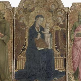 여섯 명의 천사에게 둘러싸인 성모자와 성 앙투안 드 파두 그리고 사도 요한