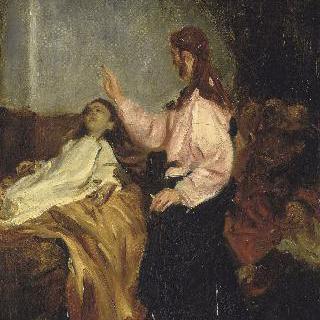 자이르의 딸을 부활시키는 예수