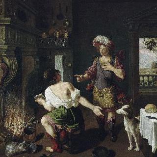 콩 요리를 동생 야곱에게 양보하는 에서