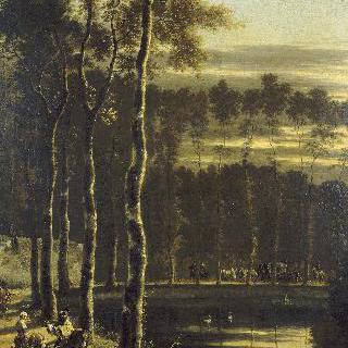 서양물푸레나무가 있는 오솔길