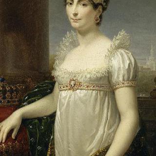 이탈리아 여왕의 복장을 입은 조세핀 황후의 초상