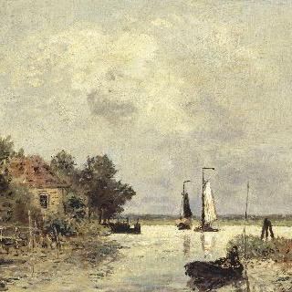 네덜란드 도르드레흐트의 라 뫼즈 강