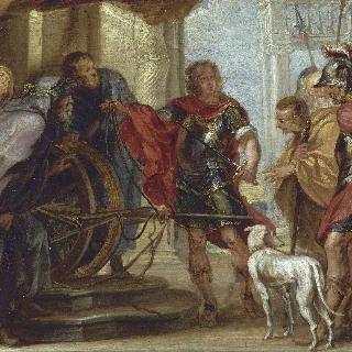 고르디오스의 끈을 자르는 엘렉상드르