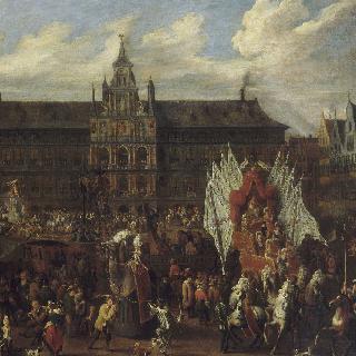 스페인 왕국에 대한 경의의 표시로 안트베르펜 시청 광장에서 벌어진 축제