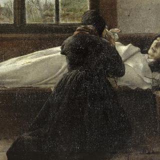 딸 마들렌의 죽음 앞에서 기도하는 화가의 어머니