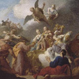 에스파냐 왕 필립 5세에게 굴복하는 발렌스와 아라곤 왕국