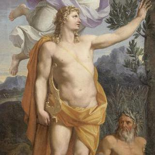 승리의 여신에게서 관을 받는 아폴론