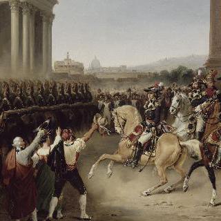 프랑스 군대의 로마 입성 - 1798년 2월 15일 군대의 선두에 있는 베르티에 장군
