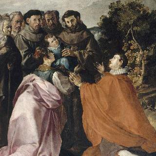 아기 성 보나벤추라를 치료하는 성 프란체스코