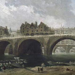 1786년 경 노르드 담 다리 위 집들의 철거