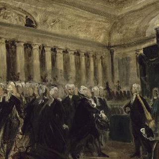 드뢰-브레제 앞의 미라보 (1789년 6월 23일) (초안)