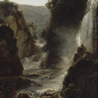 티볼리 폭포가 있는 풍경