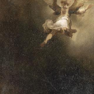 토비트의 가족을 떠나는 대천사 라파엘