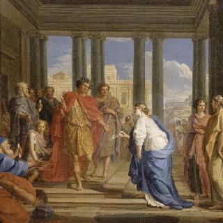 백성들을 접견하는 트라야누스 황제