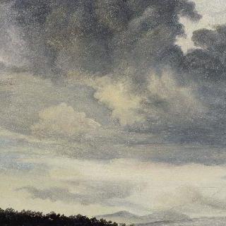 로마에서 : 구름으로 덮인 하늘 습작