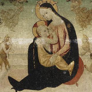 막달라 마리아와 성 히에로니무스와 두 천사 사이의 성모상