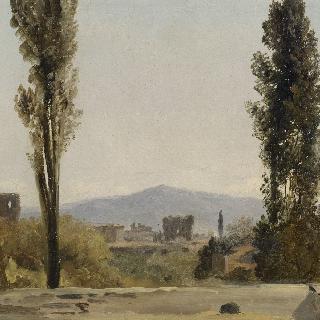 빌라 파르네세에서 : 포플러 나무 세 그루와 라티움 산