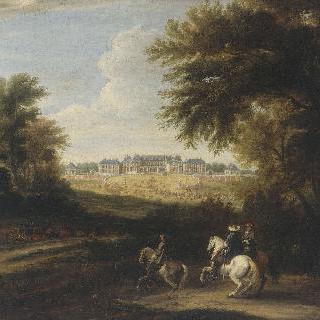 1664년 입구 쪽에서 바라본 베르사유 성 풍경
