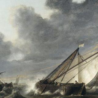 폭풍우 속 홀란드 딥 강의 배들