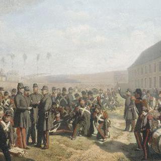 1849년경 릴 지방에 정착한 포수들의 휴식