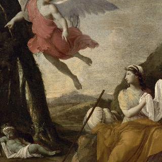 천사에 의해 구원되는 아가와 이스마엘