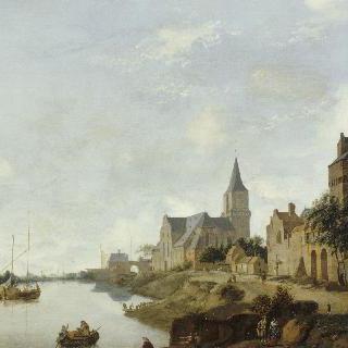 생-마르탱 교회와 에머리히(독일)의 라인강