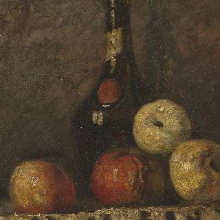 정물 : 사과와 유리병
