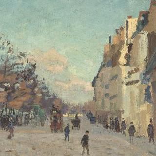 눈오는 역 주변 길 (파리 베르시 둑으로 잘못 알려짐)