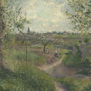 밭을 가로지르는 오르막길, 그루에트의 언덕, 퐁투아즈