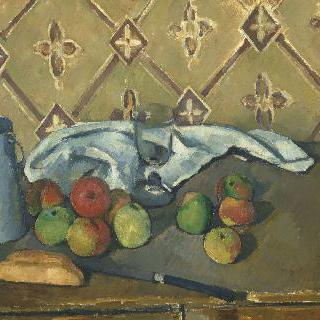 과일과 접시, 우유 주전자