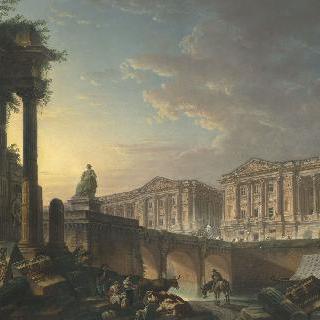 파리의 왕실 가구 보존관의 몽상적인 전경