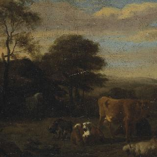 방목장의 가축들