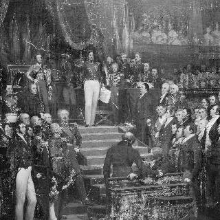 법정 앞에서 서약하는 루이 필립 황제