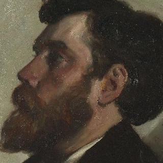 턱수염난 남자의 얼굴