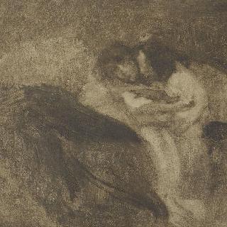 누워있는 두 아이