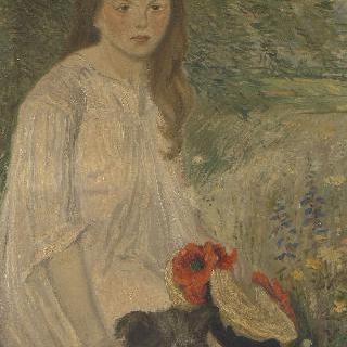 정원의 콜레트 (1888-1969), 화가의 딸