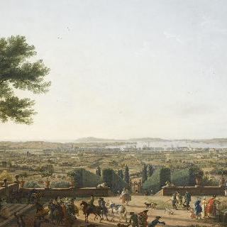 툴롱의 항구와 도시