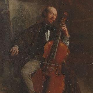 첼리스트, 알렉상드르 바타(1816-1902)의 초상