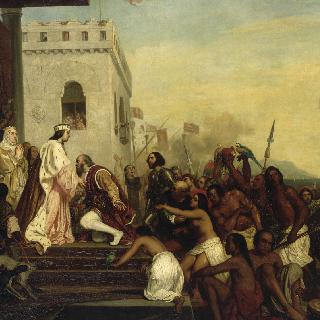 바르셀로나에서 에스파냐 왕실의 접대를 받는 크리스토퍼 콜롬버스