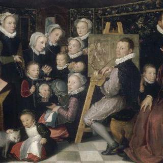 오토 베니우스와 그의 가족 : 그들 사이에서 그림을 그리는 화가