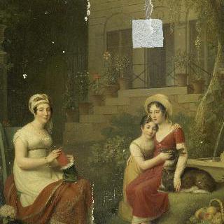 화가 조제프 보즈의 딸 마담 르장과 그의 딸들
